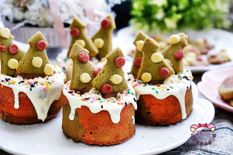 聖誕甜點食譜 影音》法式繽紛雙色點心杯♥聖誕樹餅乾/蘭姆葡萄奶油餡/雙色磅蛋糕