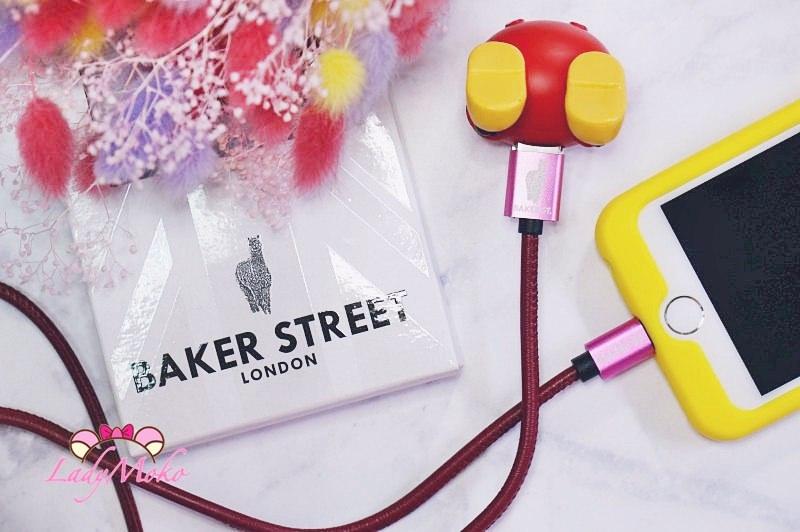 3C開箱》Baker St貝克街英國品牌 高質感皮革iPhone專用USB2.0傳輸充電線,多色羊駝logo