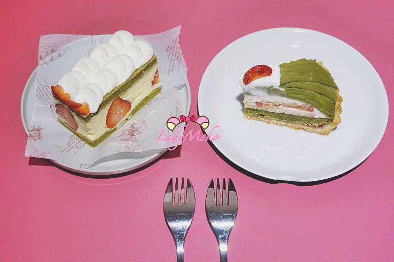 板橋江子翠甜點》藍色微光,日系清新甜點咖啡店 手作抹茶草莓甜點 新開幕