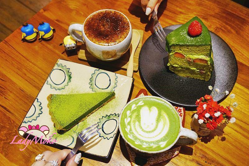 民生社區不限時咖啡廳》六丁目cafe,抹茶控來偽日本大吃抹茶生巧克力甜點和可愛拉花抹茶拿鐵♥