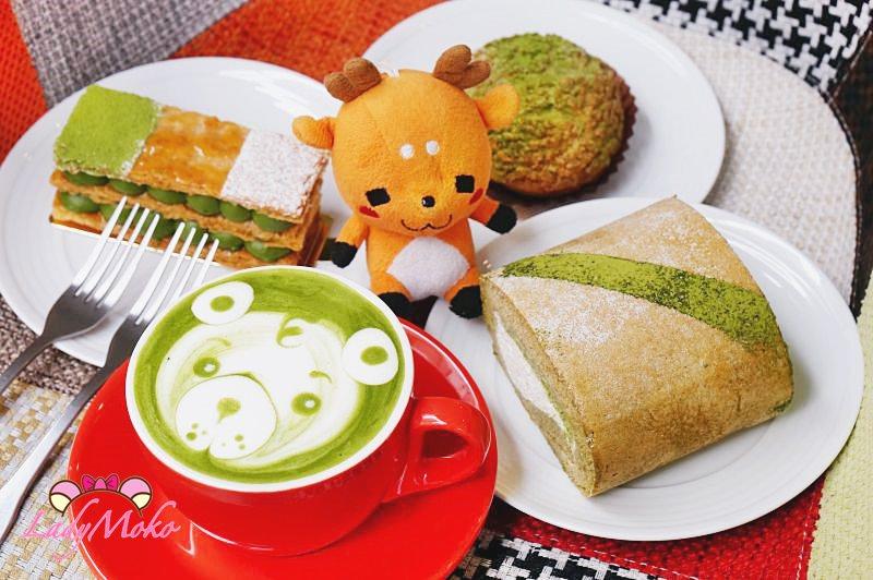 桃園下午茶》小初心法式甜點, 抹茶控失控點一輪! 千層 泡芙 爆漿生乳捲