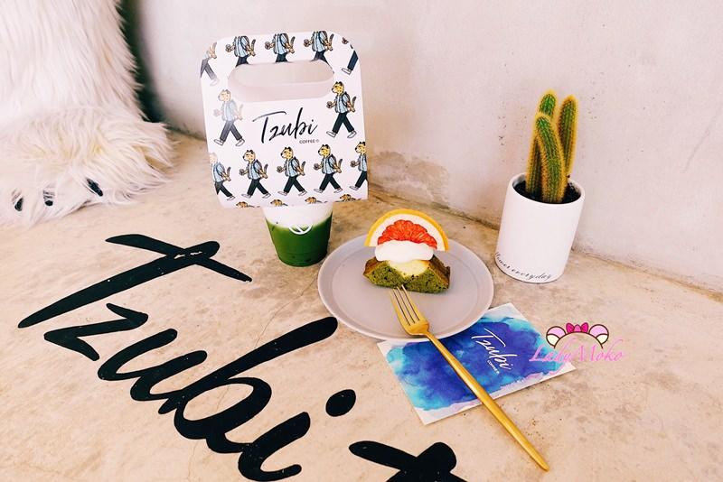東區甜點咖啡》Tzubi coffee,可愛外帶提把京都抹茶拿鐵&富士山抹茶磅蛋糕,台北忠孝敦化