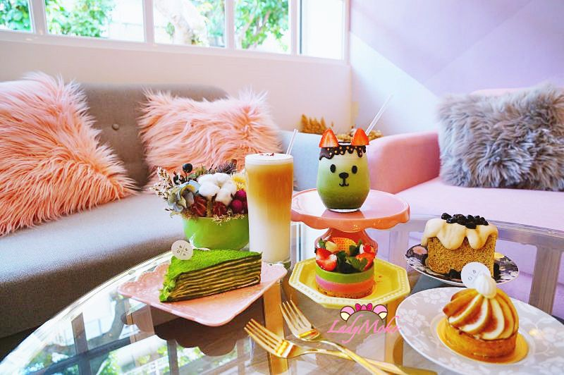 民生社區甜點》BoKa,萌翻你的裝可愛抹茶歐蕾&抹茶系列甜點