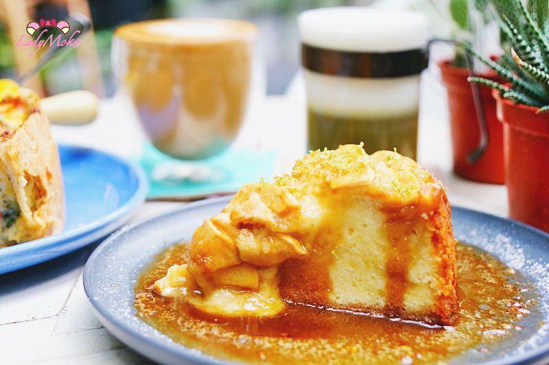捷運大安咖啡廳》你好咖啡旅店,神好吃溫蘋果蛋糕佐白蘭地醬,文青旅店Nihao Cafe Hotel