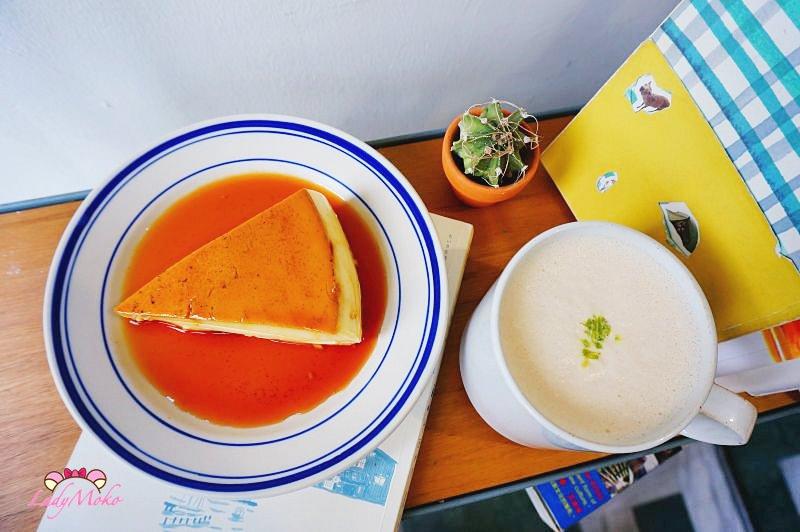台北中山站》蘑菇咖啡MOGU CAFE',最好吃的焦糖烤布丁,不限時多插座