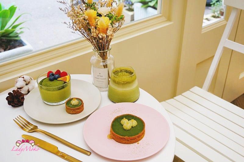 信義市政府》WannaEat好想吃甜點工作室,抹茶甜點系列全餐的透光優雅下午茶