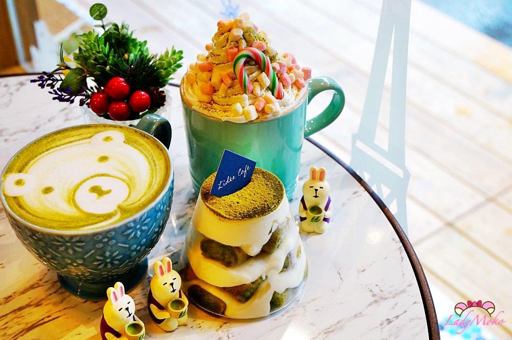 板橋乾燥花抹茶早午餐甜點推薦》樂點咖啡,抹茶富士山提拉米蘇&暖暖冬季棉花糖抹茶白巧克力歐蕾
