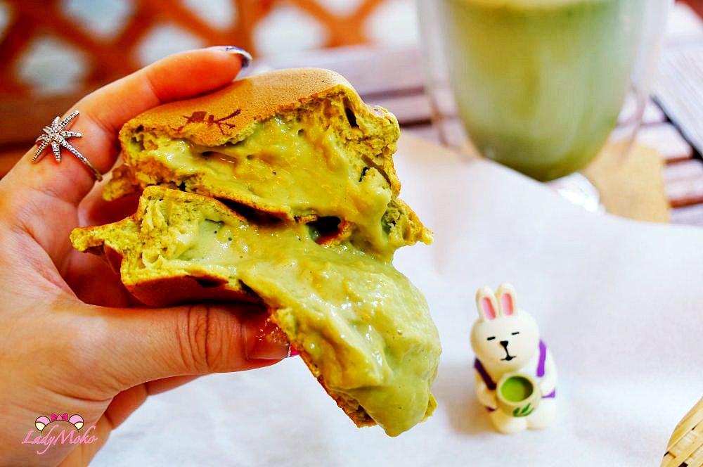 雙和捷運永安市場美食》源本屋-日式車輪餅專賣店,爆漿平價抹茶車輪餅&抹茶牛奶