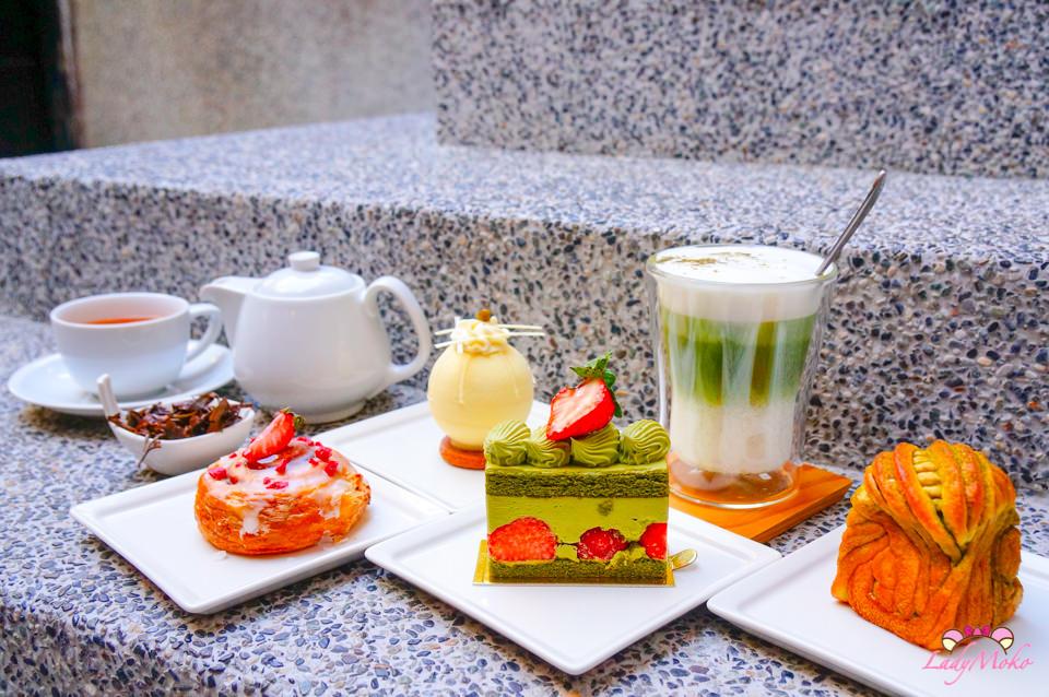 台北六張犁法式甜點》珠寶盒法式點心坊,抹茶控必吃的小山園草莓法蘭斯 安和店