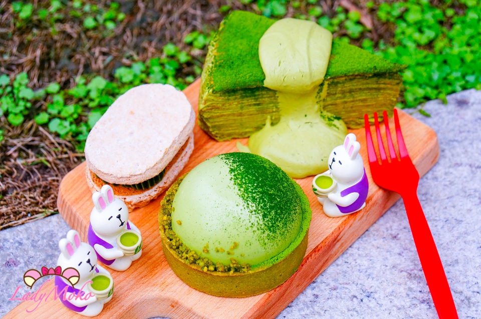 宅配甜點》冶人甜點&花,好抹抹茶全餐:可愛圓圓塔,千層,達克瓦茲