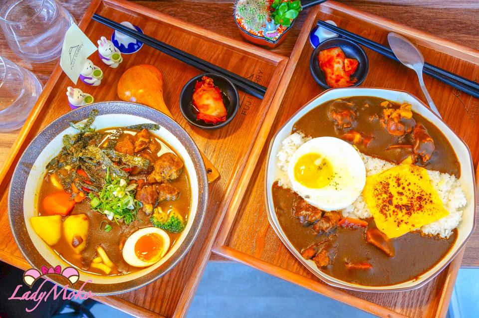 六張犁美食》富士咖哩Fuji Curry,超濃郁日式咖哩飯專賣溫馨小店,湯烏龍/布丁也很夯