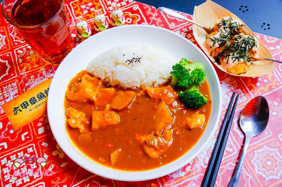 中山美食》六甲章魚燒,超平價好吃咖哩飯&日式章魚燒