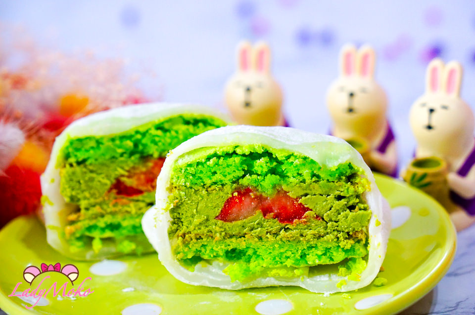 台北宅配甜點》 一點點甜手作甜點工作室,大福馬卡龍!?抹茶草莓季節限定