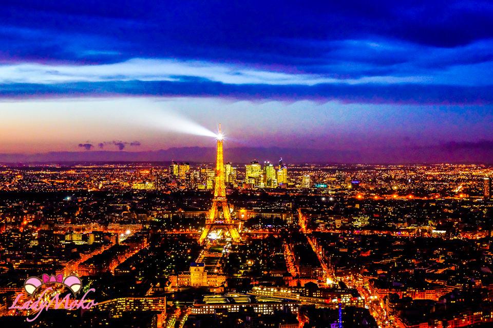 巴黎景點》蒙帕納斯大樓觀景台,璀璨閃耀的巴黎夜景盡收眼底/Tour Montparnasse