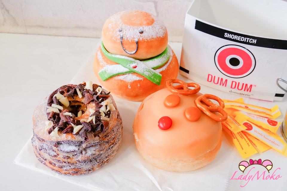 倫敦最好吃甜甜圈Dum Dum Doughnuts,聖誕超可愛麋鹿雪人/可頌巧克力甜甜圈