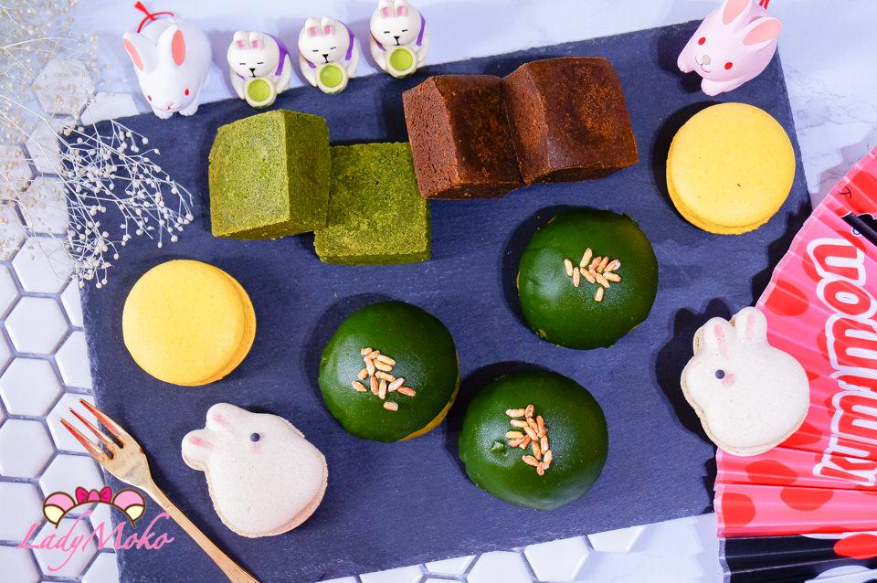 抹茶控中秋月餅推薦》兔思糖法式甜點,秒殺完售的抹茶蛋黃酥/抹茶焙茶鳳梨酥/療癒馬卡龍