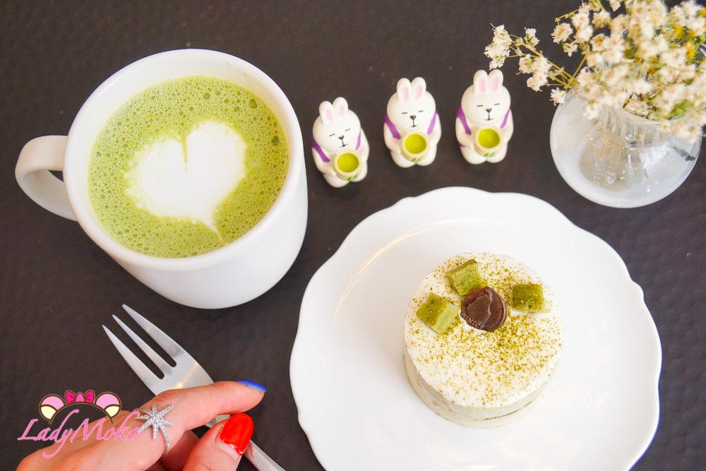 巴黎咖啡廳|BINICI,韓系清新甜點咖啡廳推薦,抹茶提拉米蘇&抹茶牛奶