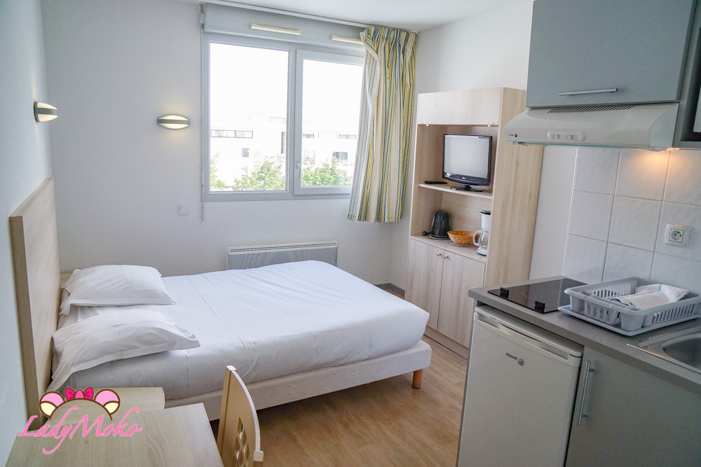 La Rochelle平價飯店推薦 Lagrange Appart'Hotel l'Escale Marine,大房間小廚房自駕方便