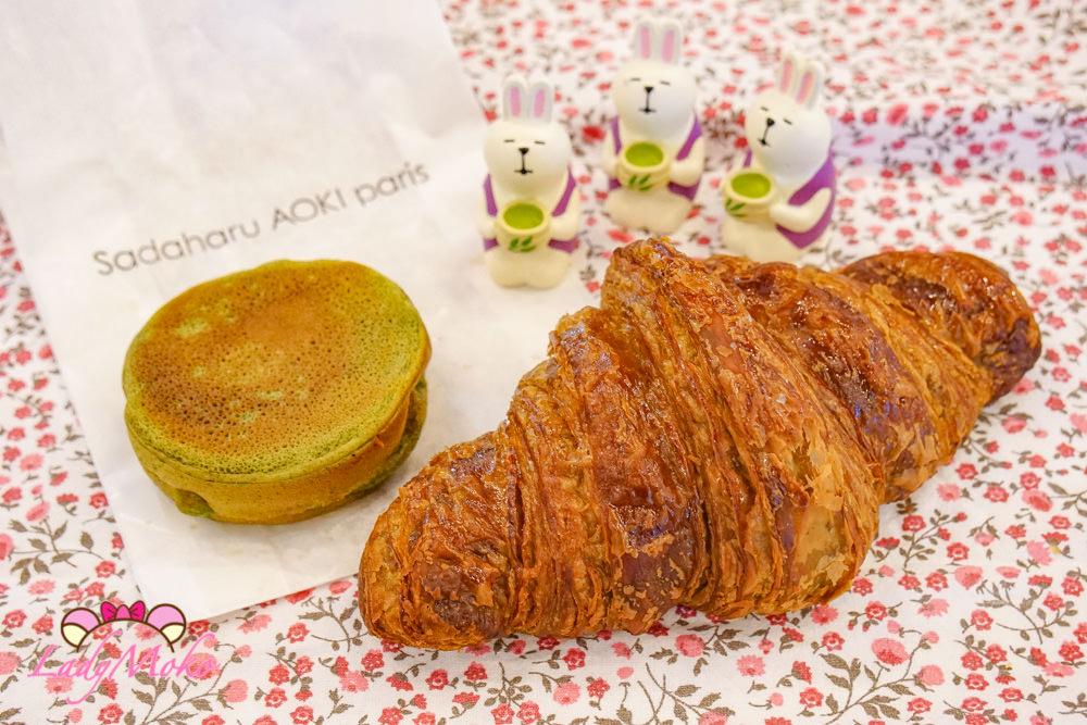 巴黎甜點|青木定治Patisserie Sadaharu Aoki,抹茶馬卡龍車輪餅&抹茶可頌