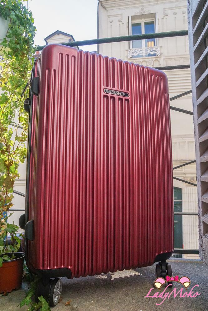 NaSaDen行李箱推薦 新無憂羽量拉鍊箱,好拖好拉高質感大容量,美炸新色霧面髮絲伯根紅