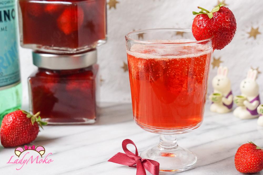 自製法式草莓醋|夏季氣泡飲食譜推薦, 使用法國Maille紅酒醋製作/San Pellegrino氣泡水心得分享