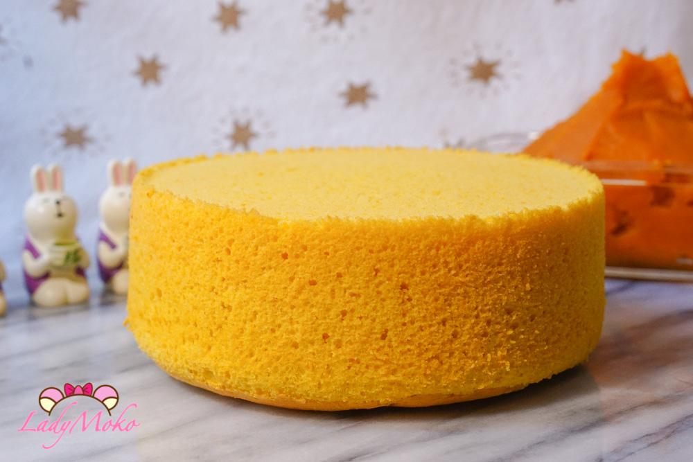 南瓜戚風蛋糕食譜|超細緻軟綿配方,簡單零失敗