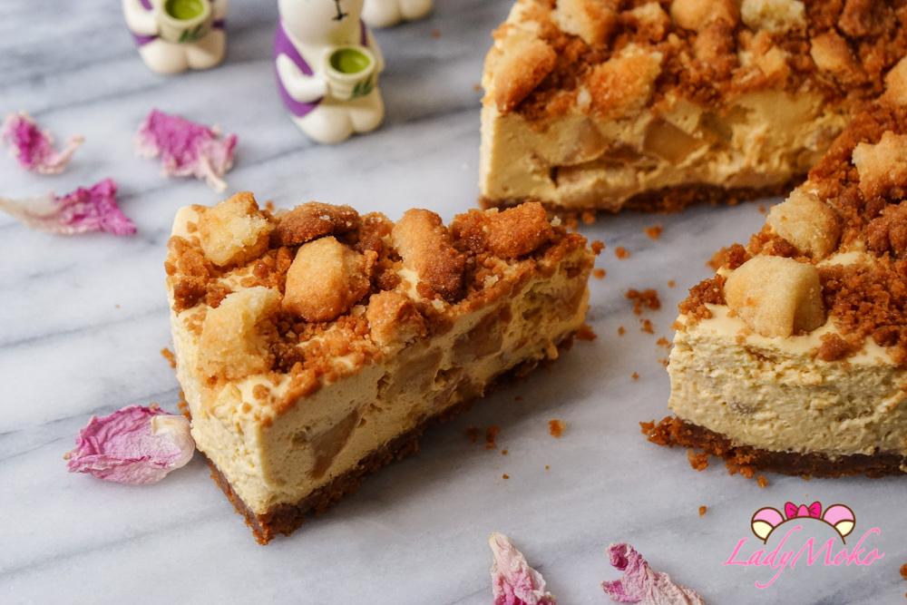 鹽焦糖蘋果乳酪慕斯蛋糕|法式甜點經典bavaroise作法/免烤乳酪慕斯蛋糕
