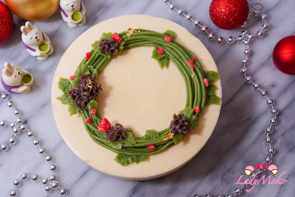 聖誕風法式柚子抹茶慕斯蛋糕食譜|柚子Bavaroise+抹茶Crèmeux+原味Génoise|法式經典食譜