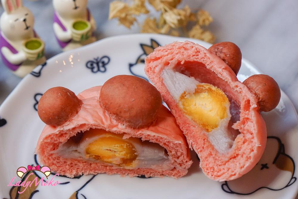 芋泥鹹蛋黃貓肉球餐包食譜|生吐司食譜使用 Salted Egg Yolk Taro bun Recipe / 生食パンレシピ