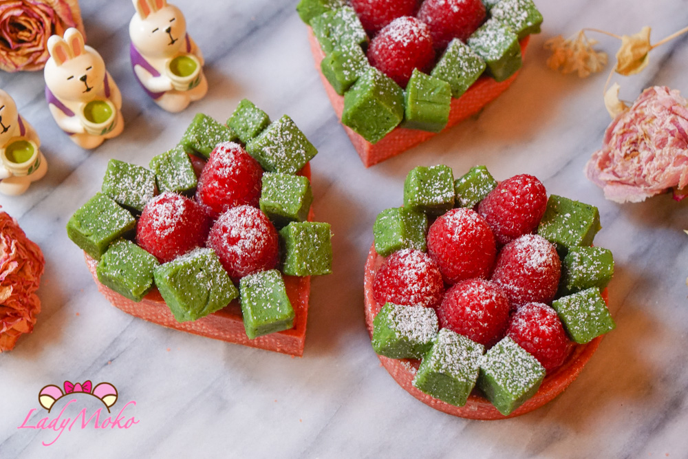 夢幻對比組合:蔓越莓乳酪塔+抹茶生巧克力磚塊|法式甜點食譜