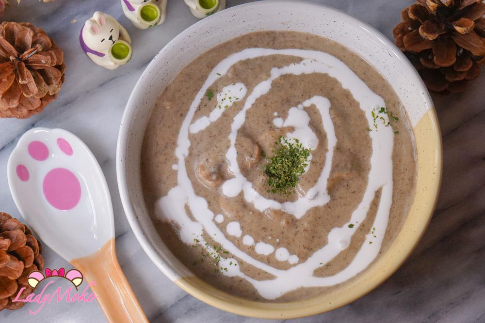 (素)蘑菇濃湯食譜Vegan Mushroom Soup|無麵粉/椰奶取代鮮奶油