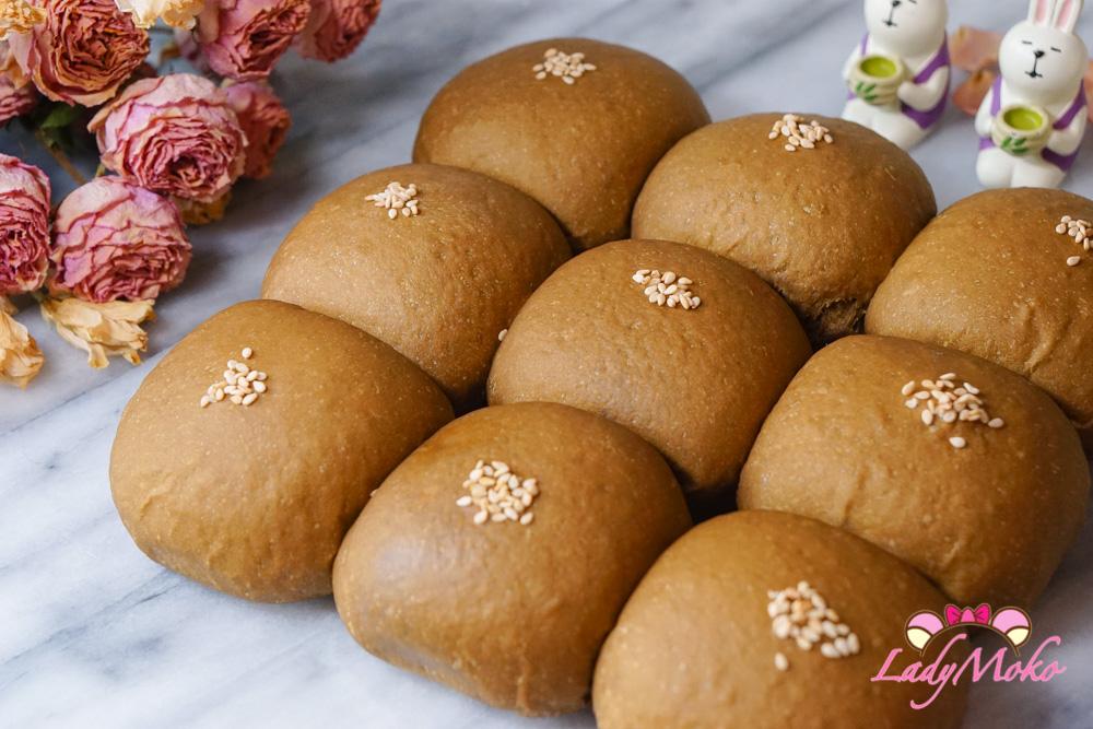 焙茶奶酥小餐包|減糖食譜,不甜膩,焙茶香氣十足,超級好吃小餐包Hojicha Milk Paste Bun