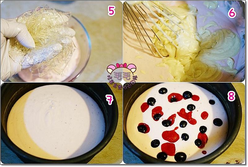 免烤覆盆子乳酪優格蛋糕3