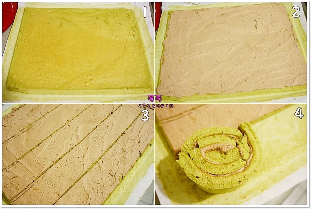 抹茶條紋蛋糕3