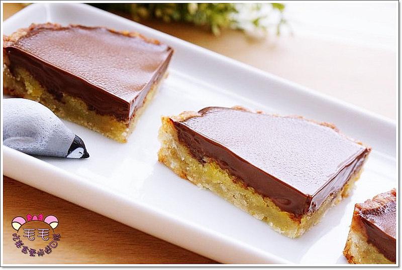 食譜 》生巧克力杏仁塔。巧克力雲莊3A生巧克力與巴黎香榭脆皮生巧克力♥送禮不稀奇,自行加工成心意滿滿的超美味甜點才正夯(愛享客專欄)