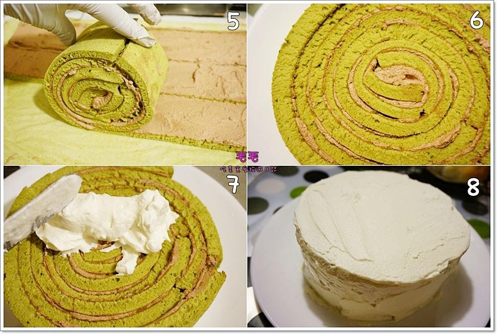 抹茶條紋蛋糕4