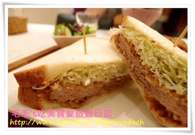 食記。柏林頓花園(敦南店) 》二訪 ~ 甜鹹均美味,超讚味噌豬排三明治和水果煎餅