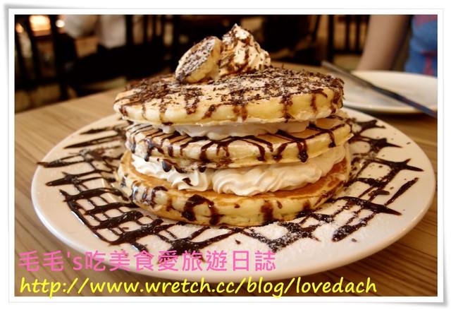 食記。方糖咖啡館 》四訪 ~ 超厚實香蕉巧克力煎鍋蛋糕 & 別家吃不到的布雪塔