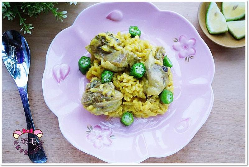 鑄鐵鍋料理食譜》檸香雞薑黃牛奶燉飯。南洋與義式Risotto的結合♥好吃又簡單好做,義大利米煮法