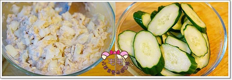 洋蔥鮪魚+小黃瓜切片