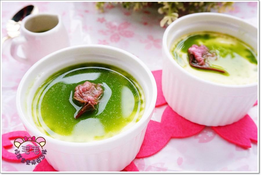 食譜 》櫻花烤布蕾佐抹茶。消耗蛋黃、鮮奶油這邊看 ! 鹹鹹甜甜♥夏日日式甜品