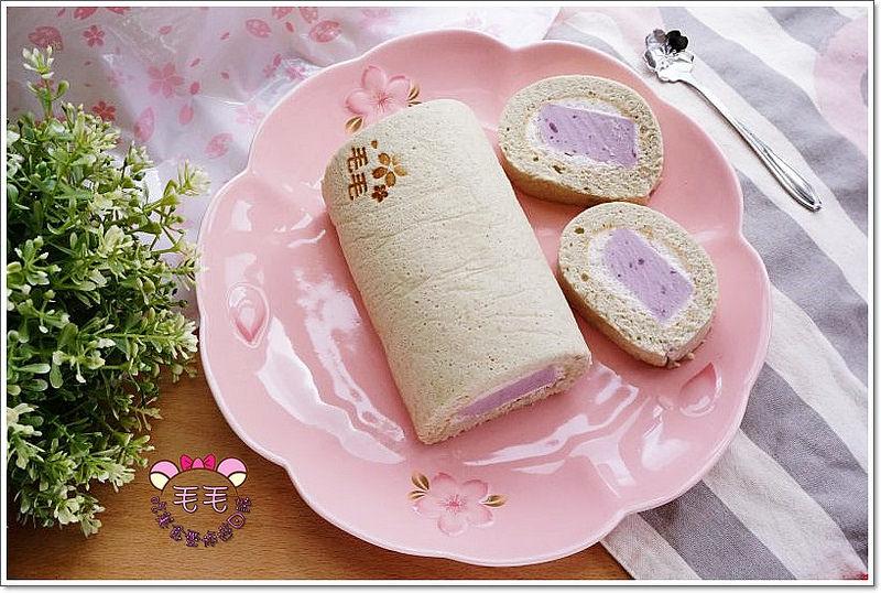蛋糕食譜 》紫薯(紫地瓜)奶凍蛋糕捲。非常紫薯之紫薯蛋糕捲+紫薯鮮奶油+紫薯奶凍♥健康好吃低油低糖,宜蘭的奶凍捲算甚麼?XD