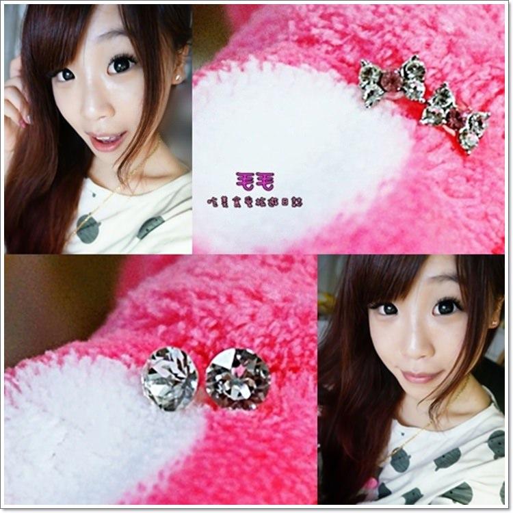 飾品 》Mrs.Yue 飾品屋。可愛、水鑽、有質感的優質夾式耳環專賣,低調「微」奢華的不對稱小香耳環(邀稿)