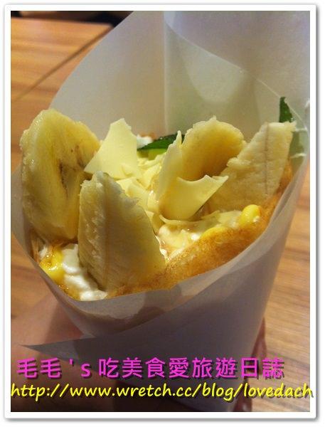 食記。MOMI & TOY'S 》香蕉楓糖漿可麗餅